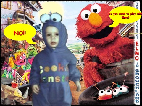 Do you want to play with Elmo?